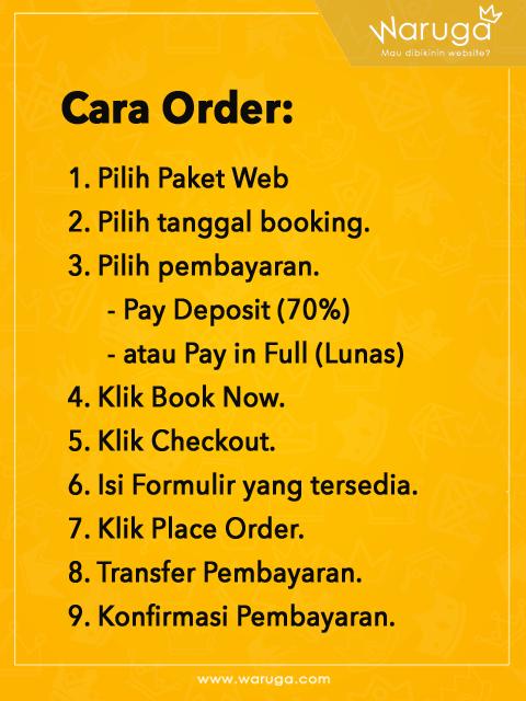 Waruga Cara Order Page